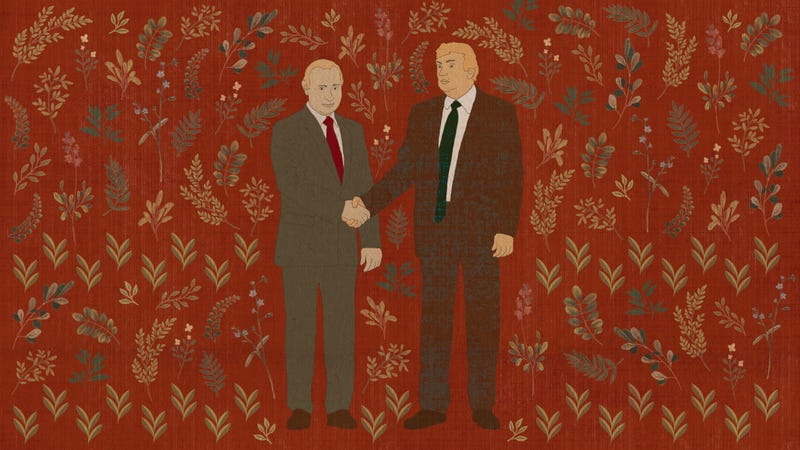 Illustration for article titled Game Over, Trump: An Ancient Order Of Franciscan Monks Has Released A 13th-Century Tapestry Depicting Donald Trump Colluding With Russian Officials