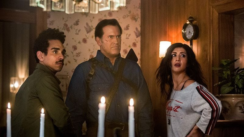 Illustration for article titled Guess who's coming to dinner in Ash Vs. Evil Dead?