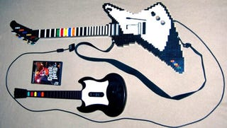 Illustration for article titled Fully Functional LEGO Guitar Hero Controller Shreds Other Plastic Guitars