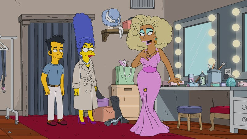 Illustration for article titled RuPaul helps Marge find her confidence in a delightful, wise episode of The Simpsons