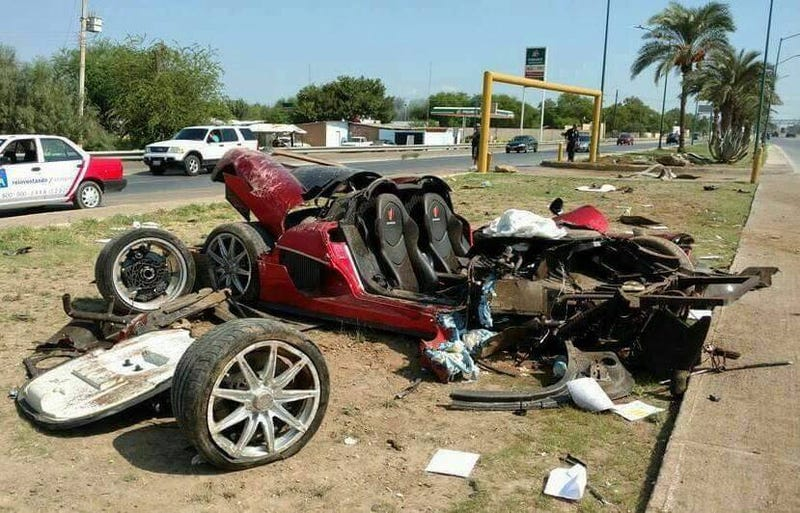 Rare Koenigsegg CCX Supercar Completely Torn Apart By Crash In Mexico