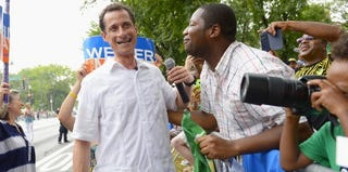 Anthony Weiner at the West Indian Day Parade in New York City (Michael Loccisano/Getty Images)