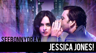 Illustration for article titled SeeBonnyDraw!  Jessica Jones and Kilgrave, in Speed Painting Form!