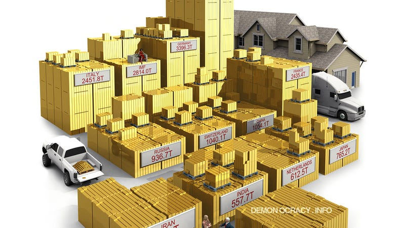 All The Gold In The World Visualized In 3d
