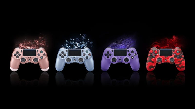 Sony will be releasing the DualShock 4 in four brand-new colors this September: Rose Gold, Titanium