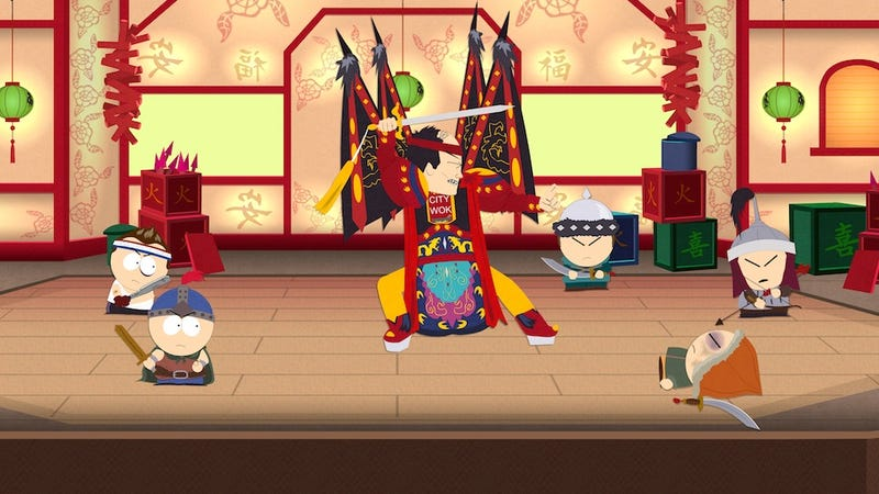 Illustration for article titled It's A Battle For The S**ty Wok In These New South Park RPG Screens