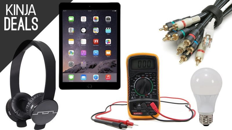 Illustration for article titled Today's Best Deals: iPads, Cable Ties, Headphones, and More