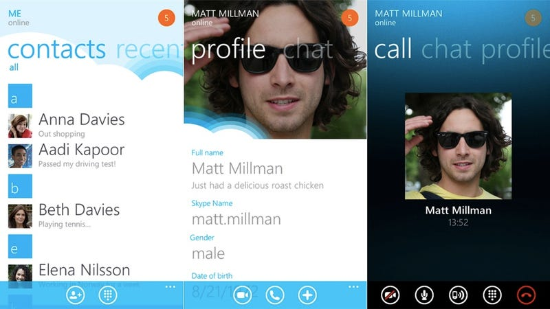 Illustration for article titled Skype For Windows Phone Is Now Official