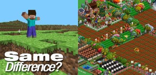Illustration for article titled Minecraft, FarmVille, What's The Difference?