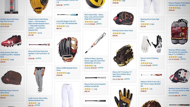 Baseball and Softball Gold Box   Amazon