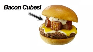 Illustration for article titled Screw Burgers with Bacon Slices, You Want Bacon Cubes