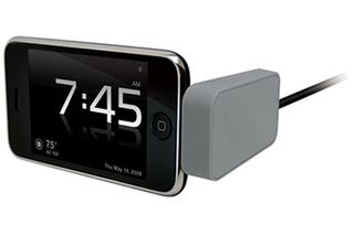 Illustration for article titled Kensington Nightstand Dock Converts iPhone In Retro Alarm Clock