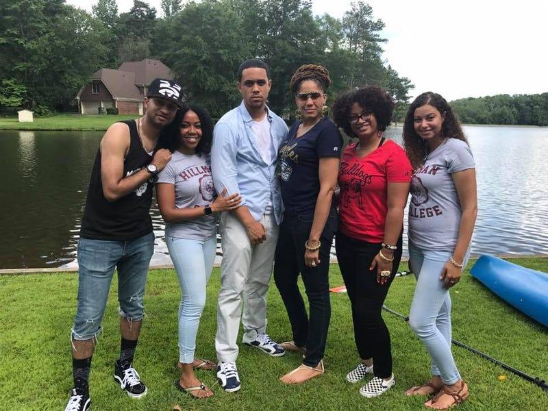 Panama Jackson (left) and his siblings in Newnan, Ga., June 2017 (Panama Jackson)