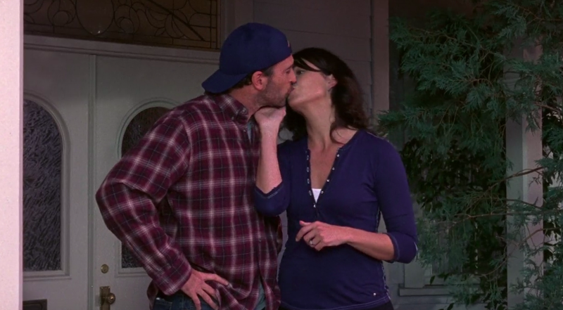 Above screenshot: Gilmore Girls. Below photo: Warner Bros./Delivered by Online USA/Getty Images