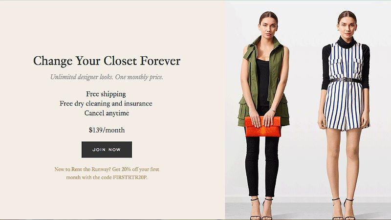 are we renting every day clothes now rent the runway says yes