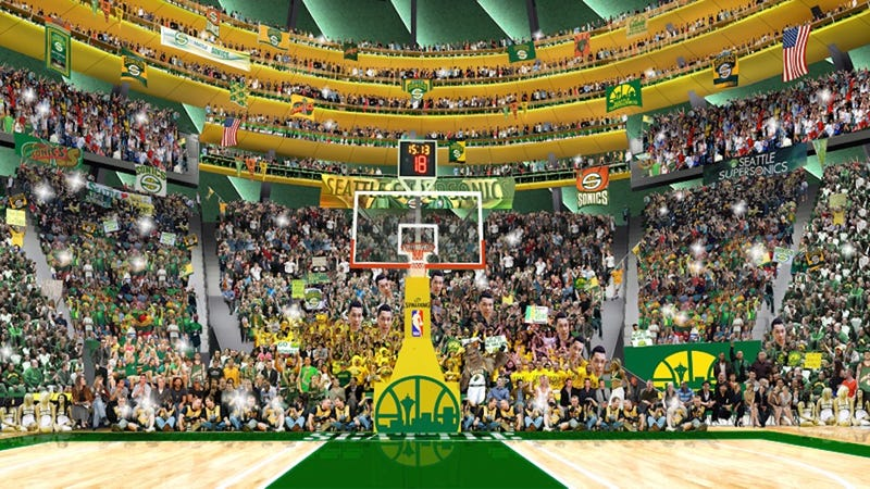 Illustration for article titled The Potential New Sonics Arena Sure Would Have A Lot Of Standing Room
