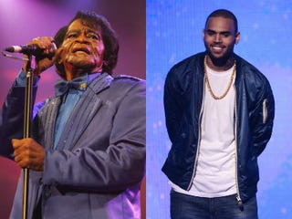 James Brown (Jo Hale/Getty Images Entertainment);Chris Brown (Michael Buckner/Getty Images Entertainment)