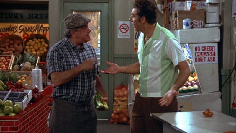 """Illustration for article titled Seinfeld: """"The Mango""""/""""The Glasses"""""""