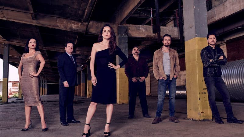 The cast of Queen Of The South (Photo by: Dennis Leupold/USA Network)