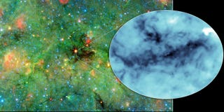 Illustration for article titled NASA Has Discovered the Darkest Shadows in the Galaxy