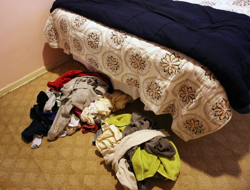 Illustration for article titled Pile Of Dirty Clothes On Bedroom Floor Starting To Mix With Pile Of Clean Clothes On Bedroom Floor