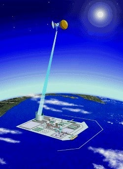 Illustration for article titled Japan Aerospace Exploration Agency Develop Solar-Powered Lasers For Energy Generation