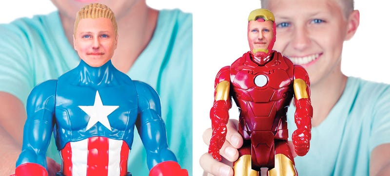 Illustration for article titled You Can Finally Personalize a Marvel Action Figure With Your Own Face