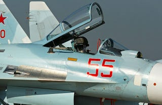 Illustration for article titled 10 Su-27SM Flankers & 4 Su-30 Super Flankers Stationed In Crimea