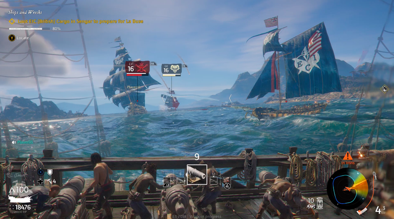 Stymied by the wind but with cannons at the ready in the E3 demo of Skull & Bones.