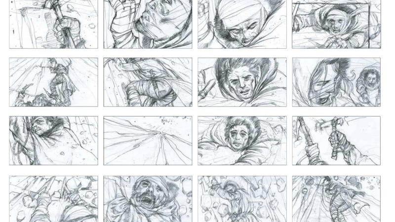 A handful of Will Simpson's storyboards from the ice climb in Game of Thrones season three.