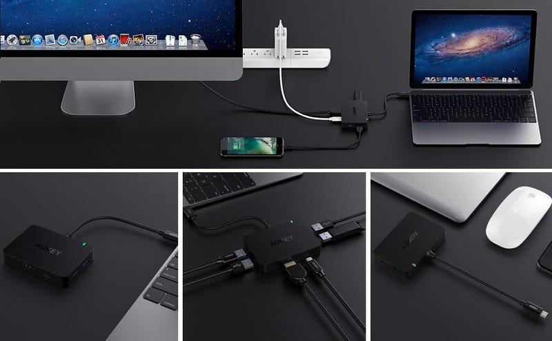 Aukey USB-C Hub, $30 with code AUKEYHUB