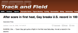 Illustration for article titled Track And Field Trials Not Shy About Producing Funny Headlines