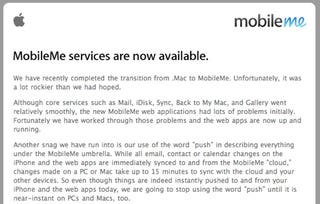 Illustration for article titled Apple Admits MobileMe Snags, Gives Free 30-Day Extension