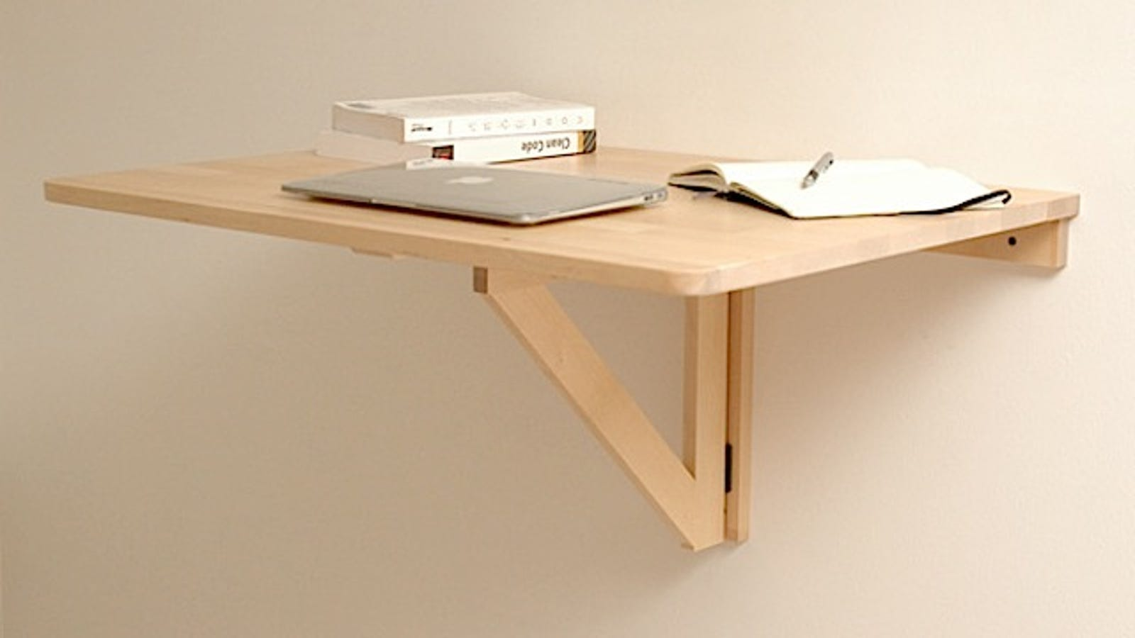 Repurpose A Wall Mounted Folding Table As A Collapsible