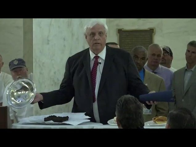West Virginia Governor Unveils Literal Bull Shit During Budget Veto