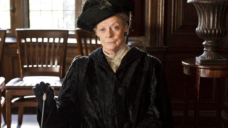 Illustration for article titled Maggie Smith was joking about leaving Downton Abbey, nervous publicist assures