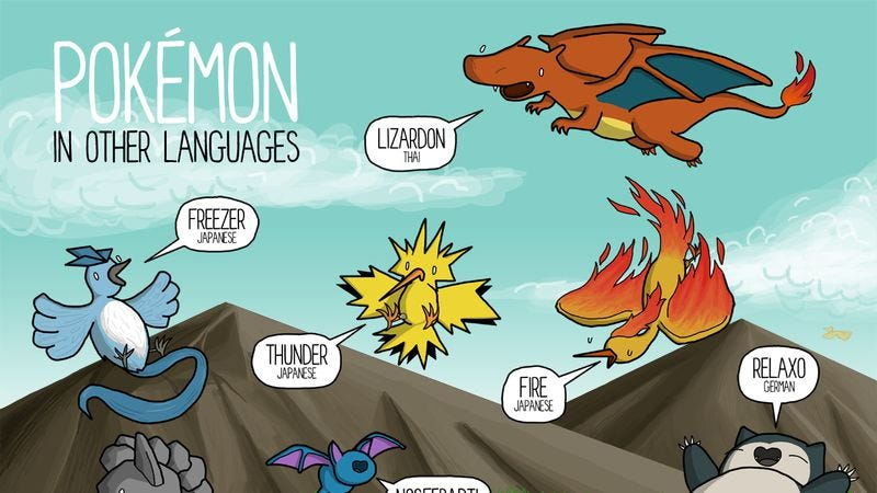 Illustration for article titled Pokémon have some great names in other languages