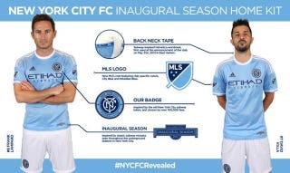 Illustration for article titled New York FC's New Kits Look Like Hand-Me-Down Manchester City Ones