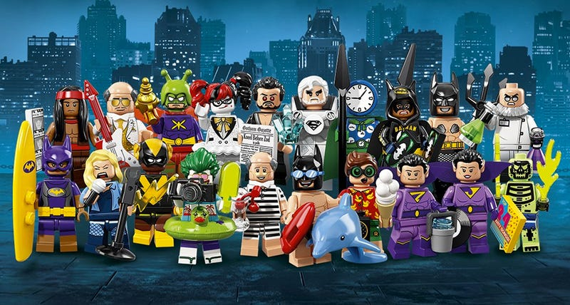 Illustration for article titled Lego's Next Series of Collectible Minifigures Includes a Mermaid Batman and Superman's Dad