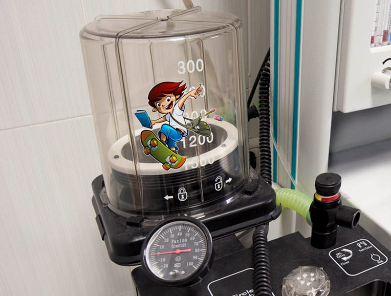 Illustration for article titled Fun Sticker Placed On Child's Ventilator
