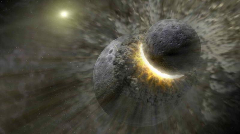 Illustration for article titled Una violenta colisión con otro planeta pudo haber sembrado la Tierra con los ingredientes para la vida