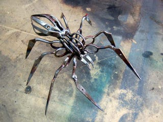 Illustration for article titled Confiscated Scissors Transformed into Stabby Spiders