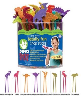 Illustration for article titled Dinosaur Chopsticks Are Not, Sadly, Made of Dinosaurs