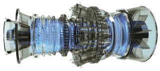 Illustration for article titled The World's Biggest and Best Gas Turbine Can Power 400,000 Homes
