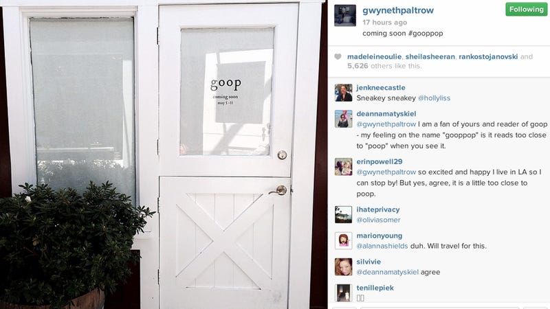 Illustration for article titled Gwyneth Paltrow Is Opening a Real, Live Goop Pop-Up Store