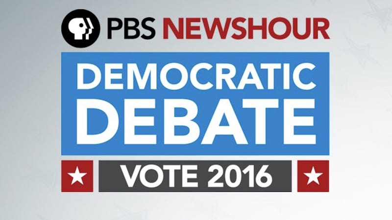 Illustration for article titled How to Stream PBS' Democratic Debate Tonight Online, No Cable Required