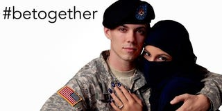 Illustration for article titled US soldier & his Muslim gf in ad