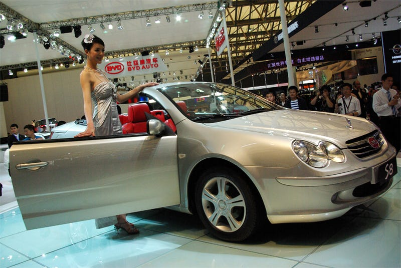 Illustration for article titled BYD B8 Convertible: Impending Doom Never Looked So Good, SL-like