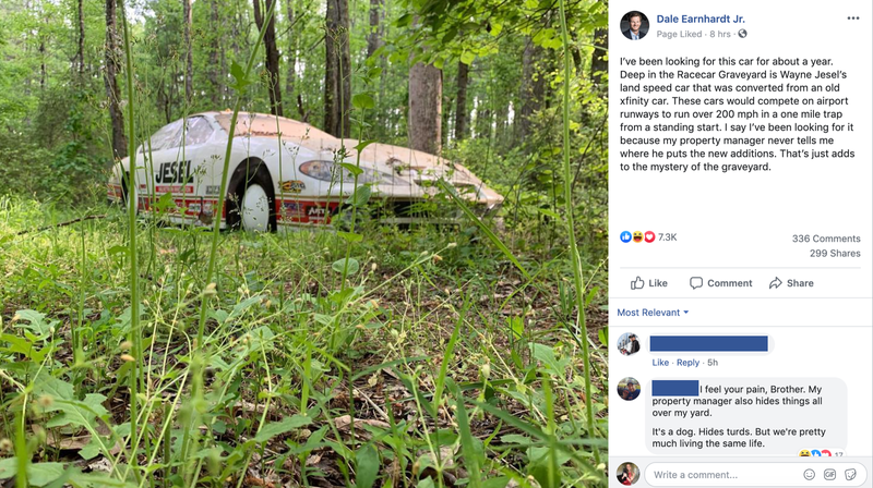 Dale Earnhardt Jr.'s Car Graveyard Is Like His Own Personal Scavenger Hunt