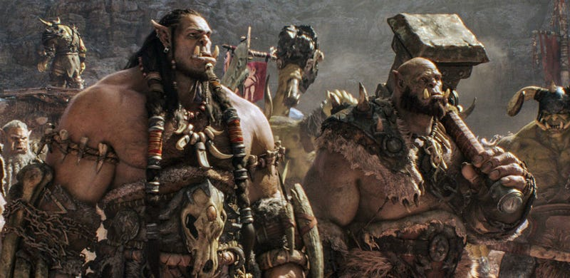 Durotan (Toby Kebbell) and Orgrim (Robert Kazinsky) in Duncan Jones' Warcraft. All Images: Universal Pictures/Legendary